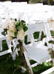 White Garden Chairs For Wedding Ceremonies With Pew Arrangements Evantine Design