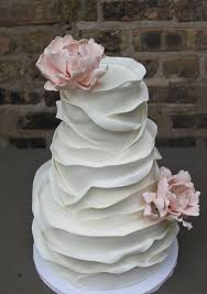 Layered Texture White Wedding Cake