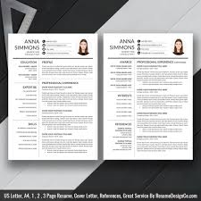 2019 Best Resume Template Word, Modern CV Template 2019, Cover Letter,  References, Word Resume, Professional Resume, Resume Design, Instant  Download, ...