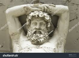 100 Atlant Old Cracked Sculpture Stock Photo Edit Now 21794257