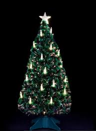 5 Green Artificial Christmas Tree With 30 Warm White LED Candles Stand By The Seasonal Aisle