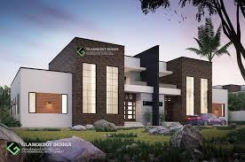 100 Semi Detached House Design Dusk Rendering Detached Contemporary 3 Bedroom House