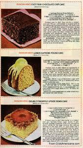 6 dessert recipes with Duncan Hines cake mix 1978 Americana