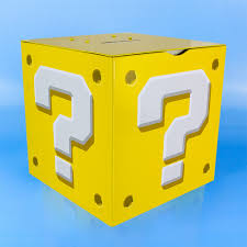 super mario bros question block moneybox coin piggy bank ebay