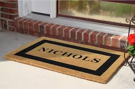 PERSONALIZED DOORMATS BLACK SINGLE BORDER