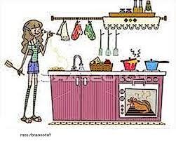 Clean Kitchen Table Clipart