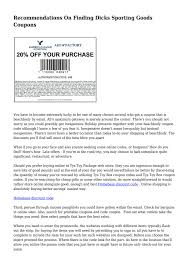 Recommendations On Finding Dicks Sporting Goods Coupons By ... How To Use A Dicks Sporting Goods Promo Code Print Dicks Coupons Coupon Codes Blog 31 Hacks Thatll Shock You The Krazy Coupons Express And Printable In Store 20 Off Weekly Ads 20 Much Save With Shopping Deals Promotions Goleta Valley South Little League Official Retail Sponsor Of The World Series