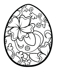 Egg Coloring Pages Easter Printable Toddlers Religious Bunny Full Size
