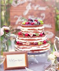 Wedding Cakes Without Frosting Naked