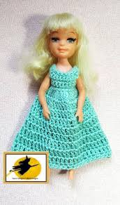 100 18 Tiny Teen Crochet Gown Vintage 5 Inch Doll