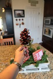 Pine Cone Christmas Tree Centerpiece by Christmas 2015 Sled Centerpieces U0026 U201cmerry And Bright U201d Grouping