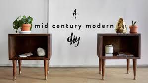 DIY MID CENTURY MODERN NIGHTSTAND — The Sorry Girls