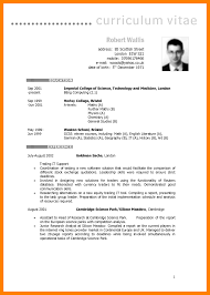 Curriculum Vitae English Samplecv Sample Resume Example Uk Template Word Fitted For 1028x1454