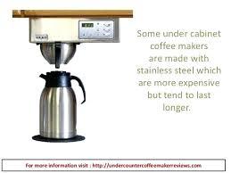Under Cabinet Mount Coffee Maker