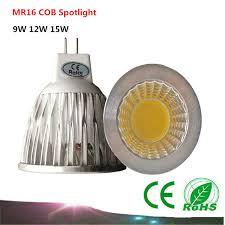 1pcs mr16 12v cob led bulb 9w 12w 15w spotlight led l warm