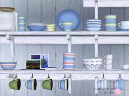 With Contemporary And Retro Design Of Ceramic Glass Tableware Or Dishes For The Kitchen Living Area 26 Meshes By DOT Sims Resource