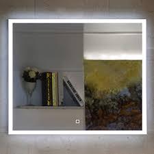 badezimmerspiegel badspiegel mit led beleuchtung touch schalter 60 x 60 cm