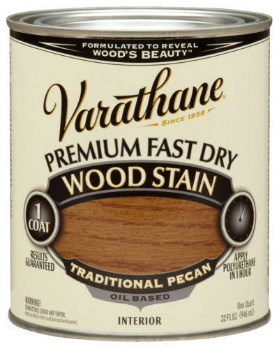 Varathane 262013 1 Quart Traditional Pecan Fast Dry Wood Stain