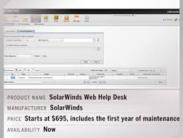 solarwinds web help desk pricing products of the week 6 10 13 network world