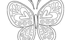 Coloring Pages Of Cute Animals Butterfly Cu On Page Kids