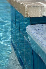 Waterline Pool Tile Designs by Modono Color Shifting Tiles Used In A Residential Pool U0026 Spa