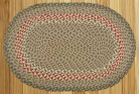 Green Jute Rug by Earth Rugs C 111 Burgundy Green Sunflower 100 Jute Braided Rug
