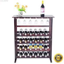 Britain Rustic Teak Wood Wine Bar Buffet Cabinet Black