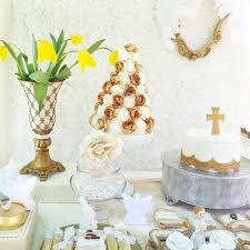 white gold baptism party via kara s party ideas karaspartyideas