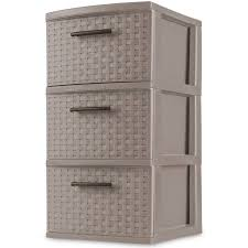 3 Drawer Wicker Chest Walmart by Sterilite 3 Drawer Weave Tower Taupe Splash Case Of 2 Walmart Com