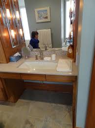Gorgeous Design Ideas Using Cream Quartz Countertops And Rectangular ... Handicap Accessible Bathroom Design Ideas Magnificent 70 Vanity Requirements Topquality Restroom Wheelchair Floor Universal Award Wning Project Wheelchair Photos Plans For Faucets Dimeions Standards Height Innovative Wall Mount Paper Towel Holder In Transitional Small Toilet Shower Images Creative Decoration Designs Home 33 Newest Homyfeed Homes Fresh Cool Trend Ada Accsories Disabled