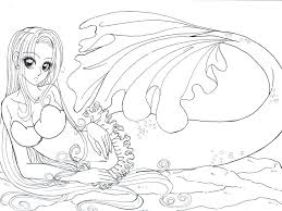 Free Printable Barbie Mermaid Coloring Pages To Print Princess Ariel Realistic Download Full Size