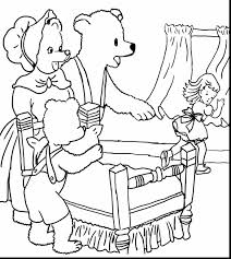 Goldilocks And The Three Bears Coloring Pages Free Printable 26857 Pictures