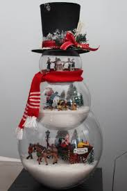 Whoville Christmas Tree Decorations by Fish Bowl Snowman Craft Snowman Crafts Snowman And Bowls