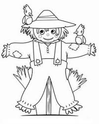 Printable Thanksgiving Scarecrow Coloring Page