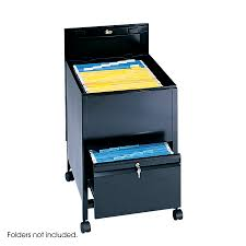 Locking File Cabinet On Wheels by Safco Locking Legal Size Mobile File Cart W Drawers