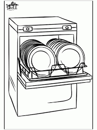 Dishwasher Clipart Black And White
