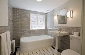 gray subway tile bathroom contemporary bathroom yowell