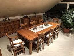 gomab massivholzesstisch mit passenden stühlen