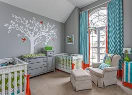 Boy Girl Twin Rooms Ideas Bellinis Nurseries And Rugs Bedrooms Home Wall Decoration Kids Cool Nursery Design For Both