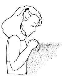 Coloring Page Of Little Boy Praying Bltidm