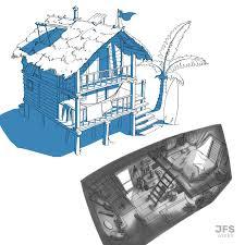 100 Beach Shack Designs ArtStation Remus Set Design Johannes Schiehsl