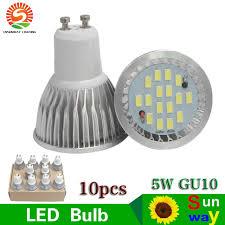 led light bulb gu10 5w 16smd white bulbs 60w halogen bulb