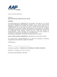 Carta Poder Notarial Peru Modelo Djdarevecom