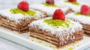 butterkeks pudding kuchen mit nur 3 zutaten butterkekskuchen mit schokopudding und kokosraspeln