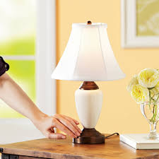 Table Lamps For Bedrooms by Bedroom Plain Lamp Incandescent Light Bulb Walmart White Bedside