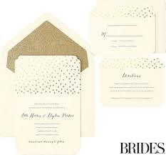 Metallic Gold Dot Scalloped Printable Wedding Invitations Kit 30ct