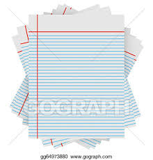 Drawing 3d render of a stack of notebook paper Clipart Drawing