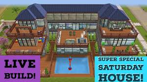 Sims Freeplay Second Floor by Sims Freeplay Super Special Saturday House Live Build Youtube