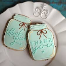 Mason Jar Thank You Cookie