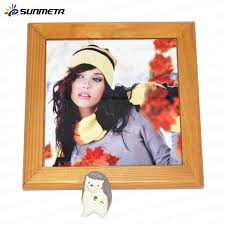 personalized tile with wooden frame blank for sublimation printing